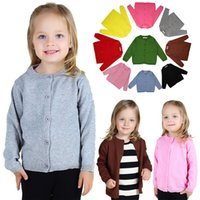 Wholesale Kid s Knit shirt whoesale retail cotton material children outerwear boy girl children coat I201680811