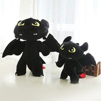 baby love movie - New Bithday Gift Baby Kids Love Movie How to Train Your Dragon Toys Black Plush Toy Toothless Dragon Anime Plush cm