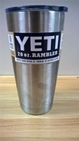 Wholesale YETI oz Cup Cooler YETI Rambler Tumbler For Travel Vehicle Beer YETI Mug Tumblerful Bilayer Vacuum Insulated Stainless Steel