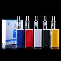 Wholesale 100 Original ECT Electronic cigarette eT P Kit mah W Box Mod E cig ml mini fog atomizer airflow control ET30P kit