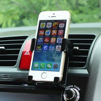 Wholesale Universal Stand Car Holder For Iphone Plus s Car Air Vent Mount Holder GPS Accessories Stand For Your Mobile Phones Holders
