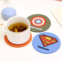 Wholesale Teacup Mat And Placemat Cute League Creative cartoon hero alliance silicone insulation pad fashion round tea coasters