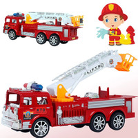 Cheap 1Pcs 29x10cm Cool Toy Fire Truck Toys Fire Engines Military Equipment Models Car Vehicles Collection K5BO