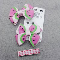 beautiful hairclips - FJ50174 set Beautiful children hair accessories Sweet dot watermelon bowknot kids hairclips Good girls Hairgrip Barrette