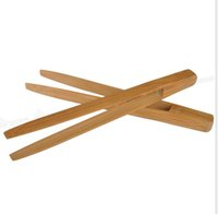 bamboo tongs - 10 quot inch Bamboo Kitchen Tongs BBQ Clip Salad Bread Serving Tongs Clip Food Cooking Kitchen Gadgets