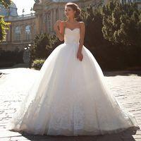 ball france - vestidos de novia baratos fabricados en china Sweetheart Ball Gowns Wedding Dress Sexy France Lace Applique Bridal Gowns Sash