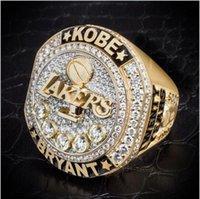 2016 se despidió de Kobe Bryant Lakers presente Kobe con el anillo de Retiro veinte años anillo de campeonato réplica de regalo mamba negro de baloncesto