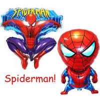 balloon jump - 30inch Large Spiderman Balloons Classic Jump Type Spiderman Party Christmas Birthday Wedding Decoration Helium Air Balloons