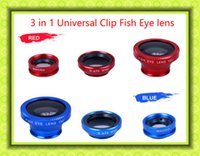 Wholesale 180 Degree Universal In Clip on Fish Eye lens Micro lens Wide Angle Mobile Phone Lens Camera kit
