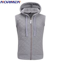 Wholesale Fall New Fashion Vest For Men Solid Hooded Sleeveless Waistcoat Colete Masculino Chaleco Hombre Vest Men Hip Hop Brand Clothing