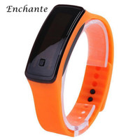 Wholesale ENCHANTE Smart Wristband LED Screen Silicone Bracelet Wearable Smart Watch for Sports With Time And Date OCS LED4122