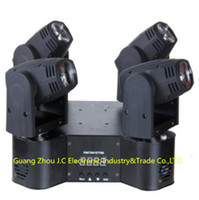 LED Round 4 Head 12w RGBW 4in1 Moving Head faisceau lumineux 120w 9 / 13CH 100V-240V Garantie d'un an