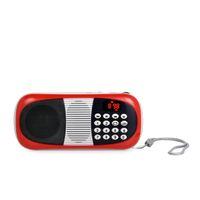 antenna rope - Mini Fm Radio Multi Band Portatil Digital Radio Y With LED Charging Indictor Flashlight Hang Rope Antenna Impeller Adjust The Volume
