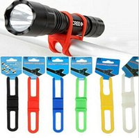 bicycle led rope lights - Bicycle Handlebar Silicone Strap Bike Front Light Holder Phone Fixing Elastic Tie Rope Cycle Bicicleta Torch Flashlight Bandages