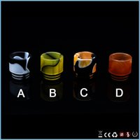 Wholesale Available electronic cigarette four colors resin drip tip for smok tfv8 coils tanks