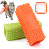 Wholesale Soft Rubber Cat Comb Hollow Design Pet Dogs Cats Cleaning Bath Hair Brush Combs Colors Europe America Hot Sale