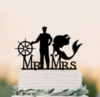 Wholesale wedding cake topper legendary love story with mermaid decoration cake topper wedding cake topper legendary love story with mermaid decorat
