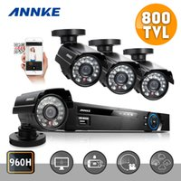 Wholesale ANNKE CH CCTV System H DVR TVL IR Weatherproof Outdoor CCTV Camera Home Security System Surveillance Kits