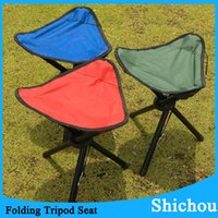 folding camping chair - Newest Tripod Outdoor Portable Folding Stools Travel Slacker Chair Soft For Hunting Camping Fishing Stool Free DHL
