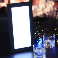 Wholesale LED Menu Cover Illuminated Pad Single Panel Black Lit Restaurant Bar Club