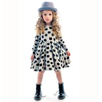active cats - Baby Kids Clothing Girls Dresses Spring Autumn Korean Preppy Style Cotton Boat Neck long sleeve Animal cat Printed A Line Dress
