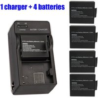 Wholesale V mAh Li ion Battery With Dual Charger For SJ4000 Action Sport Camera Accessaries