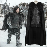 advance costumes - Hot Sales Newest Advanced Halloween Complete Set Clothing For Unisex Game Of Thrones Jon Snow Cosplay Costumes