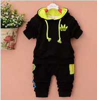 Wholesale Hot spring autumn baby boy girl fashion tracksuit kids brand clothing cotton hooded jacket pants set suits boys clothes