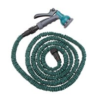 Wholesale 25FT Flexible Anself Garden Hose Fittings Set Faucet Connector Fast Connector Valve Multi functional Spray Nozzle Water Pipe