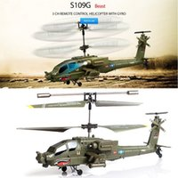 apache remote control helicopters - Syma S109G CH Mini Infrared Apache Shark Remote Control Toys Radio RC Helicopter AH Military Model RTF kid toys With light