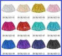 Wholesale New baby girls sequins tutu Skirts summer cotton Fashion kids designs Lantern skirt Children Clothing C1154