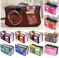 Wholesale Women Fashion Organizer Travel Bag Purse Handbag Insert Tidy Makeup Cosmetic bag Storage Phone bag Pouch Tote Sundry MP3 Mp4 bags A137