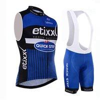 achat en gros de kit de cyclisme sur quick step-Etixx Maillots de vélo sans manches Quick Step + Shorts de cyclisme Kits Mountain MTB Maillot Ropa Vêtements de vélo / Vêtements de cyclisme