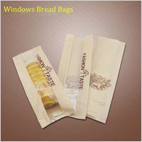 bake french bread - Baking Bread kraft paper bags window French bread long bag cm cm cm oil proof Kraft bag