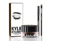 Wholesale Newest Kylie Cosmetics By Kylie Jenner Kyliner BIRTHDAY EDITION In Black Brown with Eyeliner Gel pot Brush