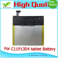 asus hd tablet - 5pcs good testing Full Power Safe High quality Tablet battery For C11P1304 ASUS MEMO PAD HD ME173X KOOB Battery Battery