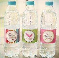 Wholesale 36 Water Bottle Labels Birthday Wedding Baby Shower Waterproof