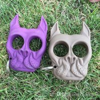 Wholesale Free DHL Brutus Self Defense Key Chain Dog Skull Shaped Personal Security Women Self defense Keychains Keychain