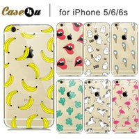 apple hood - Soft Transparent Fashion Fruit Banana Unicorn Sexy lips Clear Case Cover for iPhone s S iPhone hood capinhas capa shell