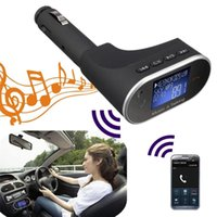 Wholesale New Arrival MP3 Player Handsfree Bluetooth Car Kit FM Transmitter Speakerphone with Mic Remote controller GB Pen Drive