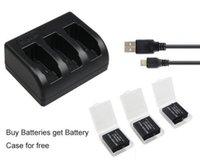 Genérico 3x1220mAh batería AHDBT-501 AHDBT501 Bateria + 3-Ranura USB Cargador para GoPro héroe 5