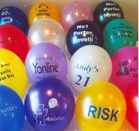 baby advertisement - 200pcs customized printed balloons advertisement promotion birthday party person name age wedding couple gift baby shower
