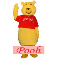 Wholesale Winnie the Pooh Mascot Costume Halloween Fancy Dress Adult Size