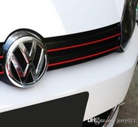 Cheap MK6 GTI Gli Styling Red Line Reflective PVC Car Sticker Front Grille Trim Strip For Volkswagen VW Jetta Golf 6 VI Golf6 Polo