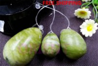 ben wa balls - natural jade egg for Kegel Exercise set pelvic floor muscles vaginal exercise yoni egg ben wa ball