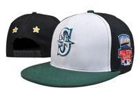adult seattle - New Men s Seattle Mariners Snapback Hats Team SF Logo Embroidery Sports Adjustable Baseball Caps Hip Hop Leather Flat Visor Hats