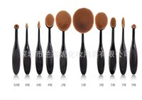 bb pc - 2016 New Beauty Toothbrush Shaped Foundation Power Makeup brush set Oval Cream BB Puff Soft Brushes sets Tool OPP package in