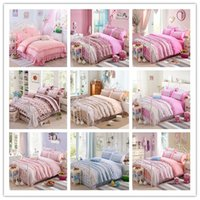 beauty textile - 2016 New Printing Bedding Set Bed Sets Duvet Cover Bed Sheet Pillowcase double bed Sets Home textile Beauty