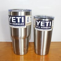 Wholesale 2016 YETI Tumbler Rambler Cups Yeti Coolers Cup oz Yeti Sports Mugs Large Capacity Stainless Steel Travel Mug With Logo