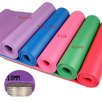 Wholesale 10MM Yoga Mat Exercise Thick Non slip Gym Fitness Durable Pilates Meditation Pad